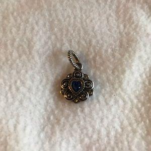 Brighton sterling silver sapphire charm